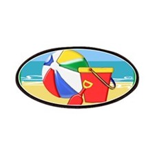 Beach Ball Pail and Shovel Patches