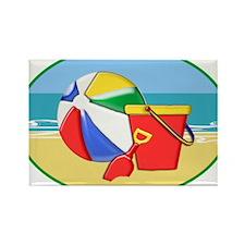Beach Ball Pail and Shovel Magnets