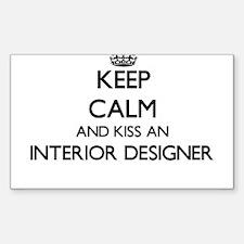 Keep calm and kiss an Interior Designer Decal