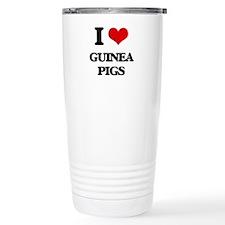 I love Guinea Pigs Travel Coffee Mug
