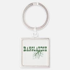 Bangladesh Roots Square Keychain