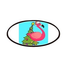 Christmas Pink Flamingo Patches