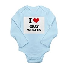I love Gray Whales Body Suit