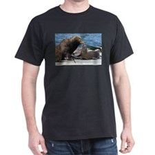 Dad and Baby Sealion T-Shirt