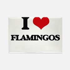 I love Flamingos Magnets