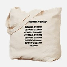 Merry Christmas in binary Tote Bag