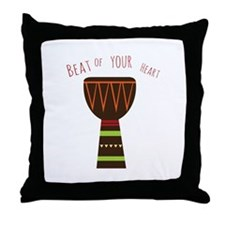 Beat Of Your Heart Throw Pillow