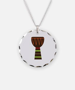 African Djembe Drum Necklace