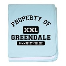 Property of Greendale baby blanket