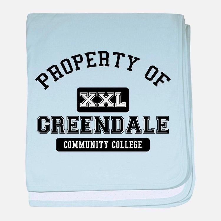 Property of Greendale baby blanket