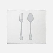 Fork & Spoon Throw Blanket