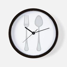 Fork & Spoon Wall Clock