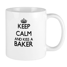 Keep calm and kiss a Baker Mugs