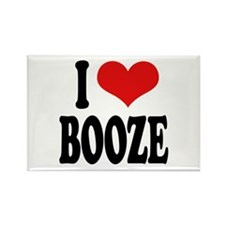 I Love Booze Rectangle Magnet