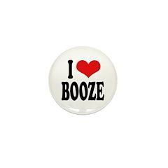 I Love Booze Mini Button (100 pack)