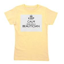 Keep calm and kiss a Beautician Girl's Tee