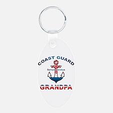 Coast Guard Grandpa Keychains