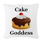 Cake Goddess Woven Throw Pillow