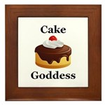 Cake Goddess Framed Tile