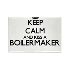 Keep calm and kiss a Boilermaker Magnets