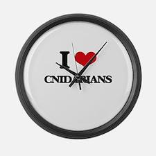 I love Cnidarians Large Wall Clock