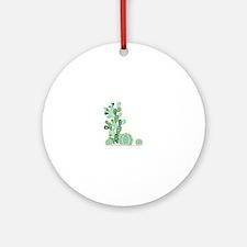 Cactus Plants Ornament (Round)
