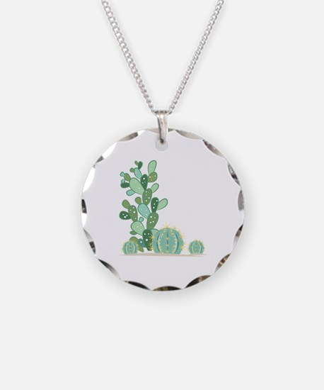 Cactus Plants Necklace