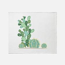 Cactus Plants Throw Blanket