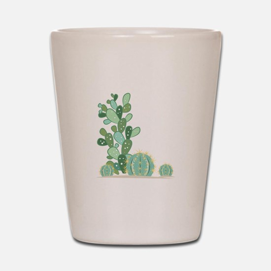 Cactus Plants Shot Glass