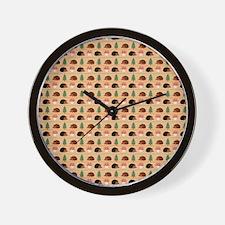 Happy Hedgehog Wall Clock
