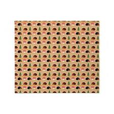Happy Hedgehog Throw Blanket