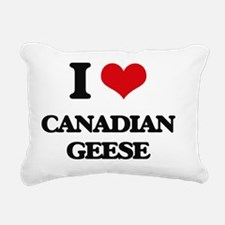 Funny Canada geese migration Rectangular Canvas Pillow
