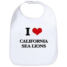 I love California Sea Lions Bib