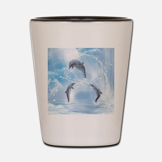 The Dreams Of Dolphins Shot Glass