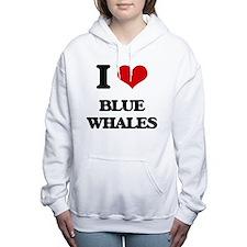 Cute Whale conservation Women's Hooded Sweatshirt