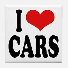I Love Cars Tile Coaster