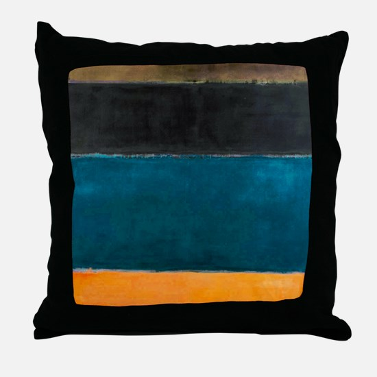 ROTHKO TEAL BROWN BLACK ORANGE Throw Pillow