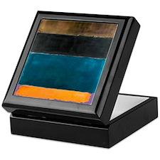 ROTHKO TEAL BROWN BLACK ORANGE Keepsake Box