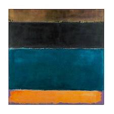 ROTHKO TEAL BROWN BLACK ORANGE Tile Coaster