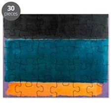 ROTHKO TEAL BROWN BLACK ORANGE Puzzle