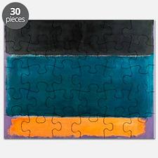 ROTHKO TEAL BROWN BLACK ORANGE Puzzle