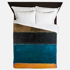 ROTHKO TEAL BROWN BLACK ORANGE Queen Duvet