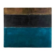 ROTHKO TEAL BROWN BLACK ORANGE Throw Blanket