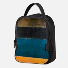 ROTHKO TEAL BROWN BLACK ORANGE Neoprene Lunch Bag