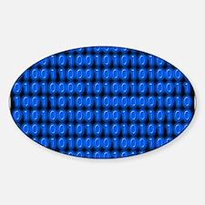 Blue Binary Code on Black Decal