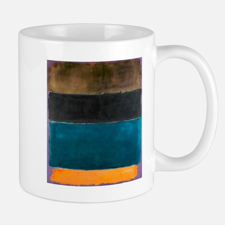 ROTHKO TEAL BROWN BLACK ORANGE Mugs