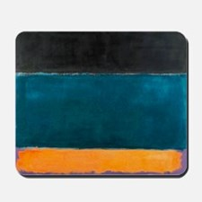 ROTHKO TEAL BROWN BLACK ORANGE Mousepad