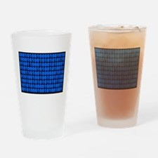 Blue Binary Code on Black Drinking Glass
