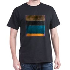 ROTHKO TEAL BROWN BLACK ORANGE T-Shirt
