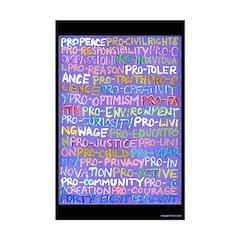 Positive Progressive Words 11x17 Poster